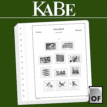 KABE OF-Illustrated album pages Great Britain 1971-1979