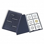 Coin Wallet with 10 Coin Sheets each for 6 cardboard holders, blue