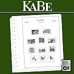 KABE OF-Illustrated album pages German Reich Colonies + Post Offices Abroad