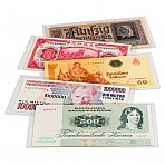 Clear plastic sleeves for banknotes, 170 x 86 mm